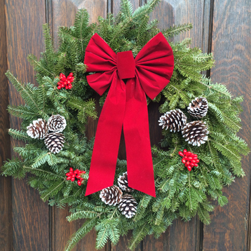 Newton Cemetery Deluxe Holiday Wreath