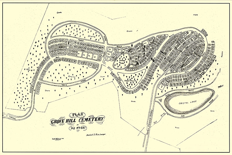 Historic Newton Grove Hill Cemetery Map