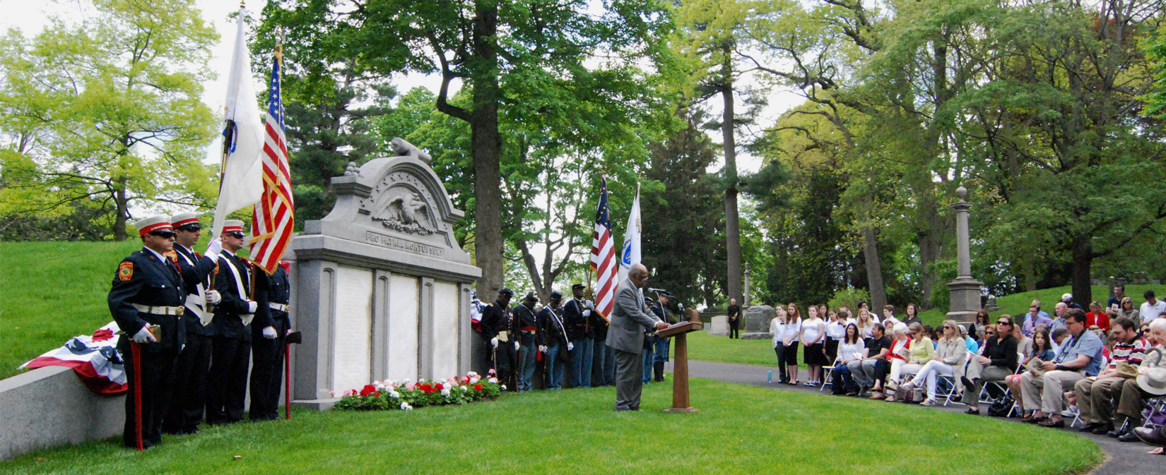 Newton Cemetery Civil War Soldiers Monument Re-dedication Ceremony
