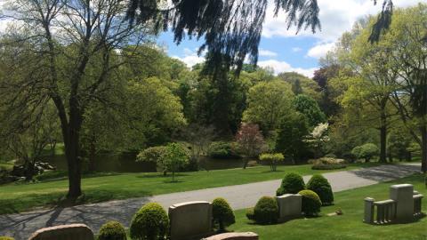 Newton Cemetery in Spring