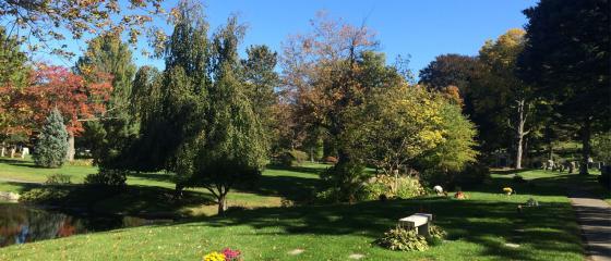Newton Cemetery urn garden plots