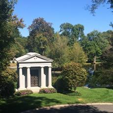 Newton Cemetery private family mausoleum