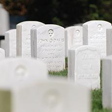 Newton Cemetery veterans marker